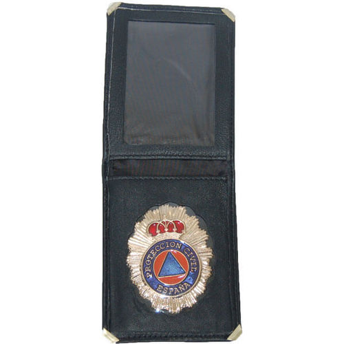 Cartera con placa de Protección Civil